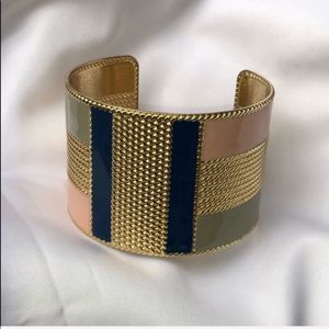 Arm Cuff Bracelet Adjustable One Size Gold